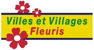 Yvoire village fleuri. Logo Conseil National des Villes et Villages Fleuris.